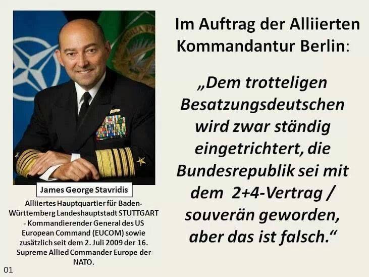 Der trottelige BRD-Besatzungsdeutsche und der 2+4 Vertrag - Wissen ist Macht - nix wissen macht auch nix