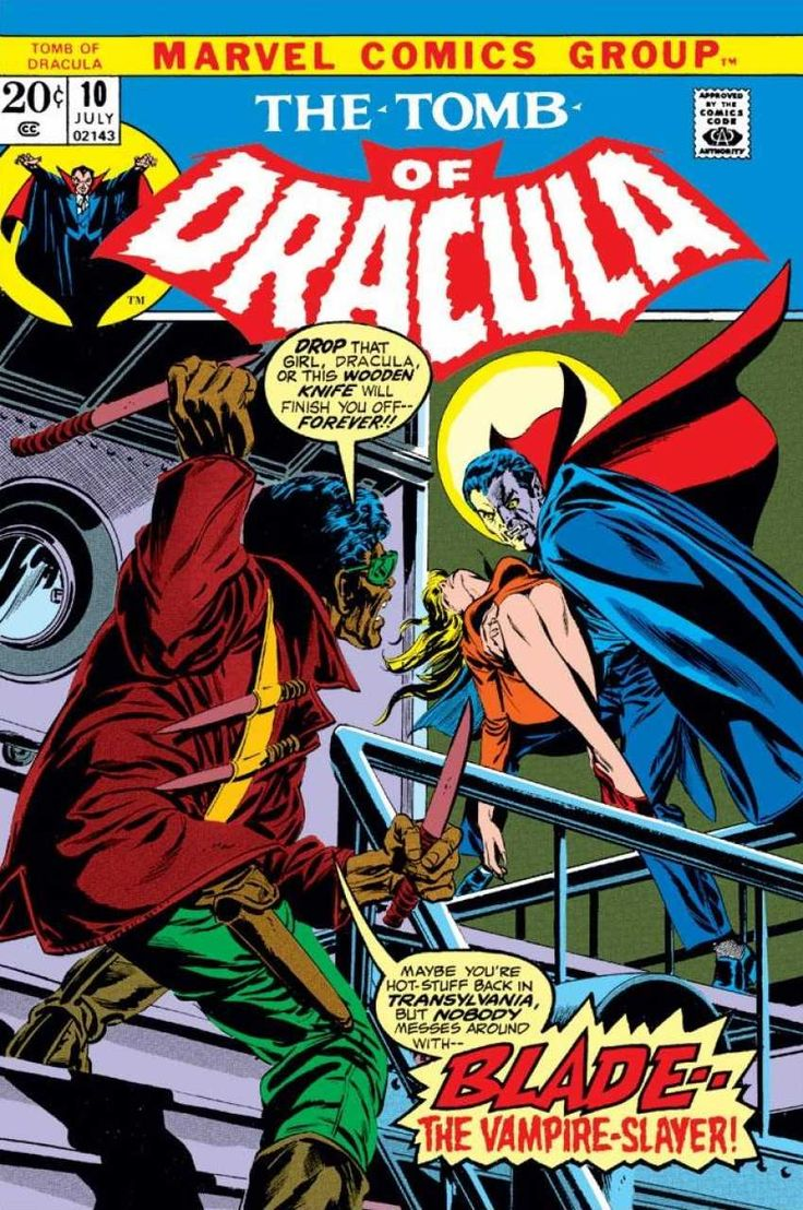 BLADE (Eric Brooks) created by Marc Wolfman & Gene Colan - debuted in 'The Tomb of Dracula' #10 (July 1973).