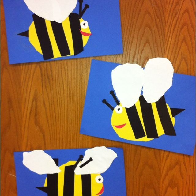Bees-Kindergarten Art- cut and paste (art teacher: v. giannetto)