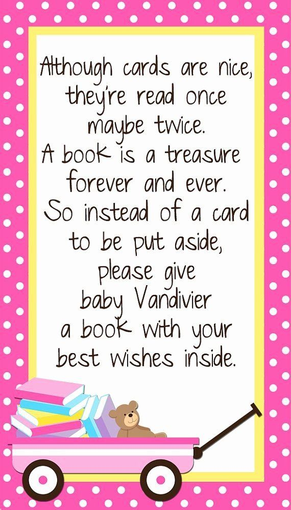 Bring Book Instead Of Card Saying : bring, instead, saying, Instead, Shower, Custom, Insert, Bring, Book,, Sprinkle, Shower,, Twins, Invitations