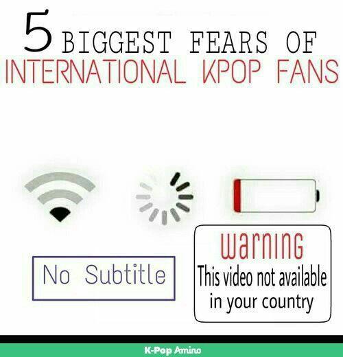 My top fears