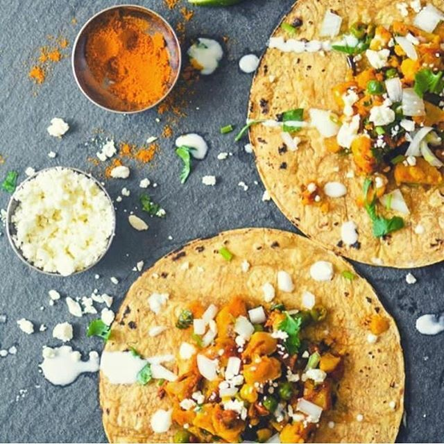 Who says tacos are only for Tuesdays!? This is a #Masala cauliflower taco, what's your spin on your favourite tacos? @dakshasgourmetspices