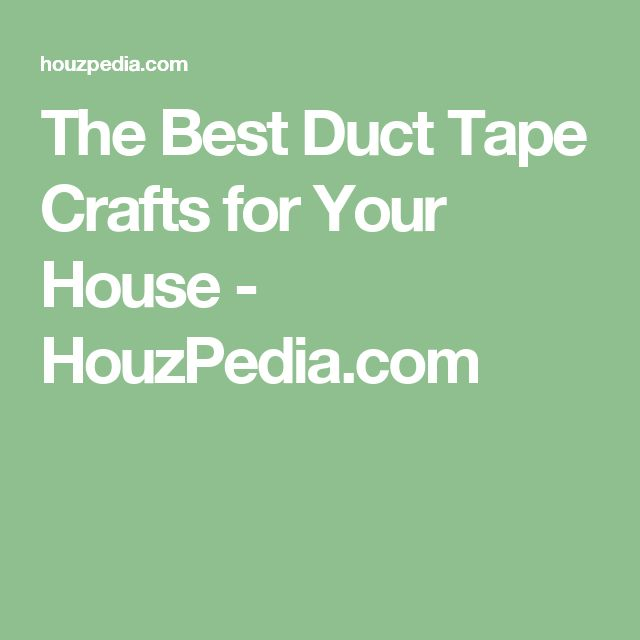 The Best Duct Tape Crafts for Your House - HouzPedia.com