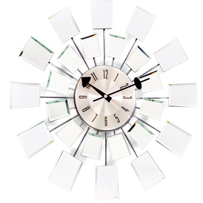 S Kids George Nelson 20-inch Mid-century Modern Mirror Wall Clock