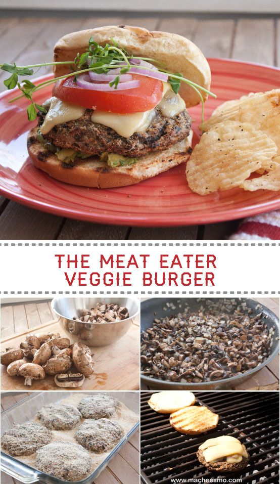 Mushroom Burgers - Nick Evans: This is the veggie burger I made on NBC's Food Fighters show. It won me a cool $20,000. Even meat eaters love it! ~ Yeah methinks me will too mmm <3 (included in my meatless meal list)