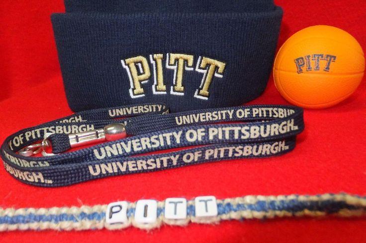 Pitt University Adidas HAT+ PITT Bracelet+ Lanyard+  PITT Squeezeball  Pittsburg…