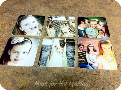 Photo Coasters. DIY Kit - all the pieces you need to make