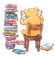 Winnie the Pooh loves books