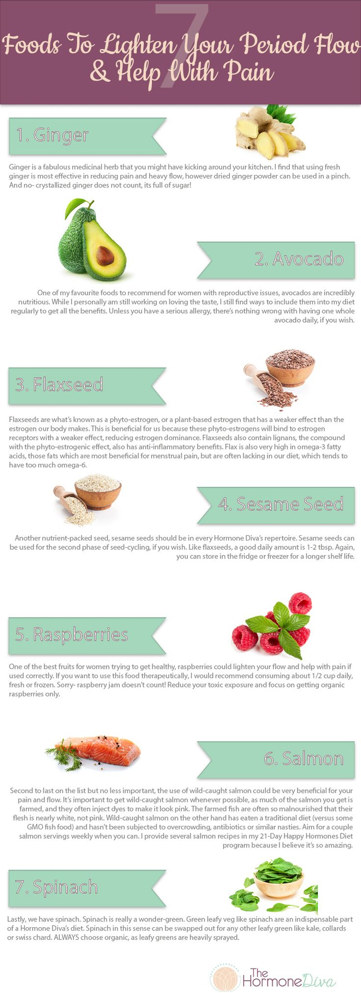 Suffering From Heavy & Painful Periods? 7 Foods To Lighten Your Flow & Help With Pain |The Hormone Diva|