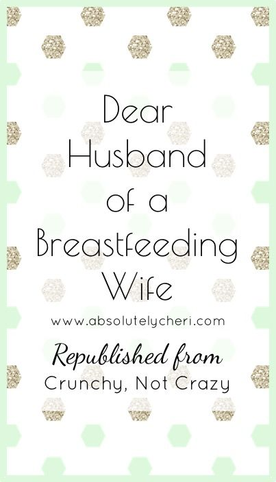 An open and honest letter from to a husband who has a breastfeeding wife. Nursing a baby is hard, but the baby's dad could make it a bit easier.