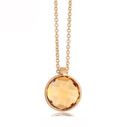 Our #classic range of #beautiful #gemstone necklaces.. this #stunning #citrine and #yellow #gold is a #favourite!