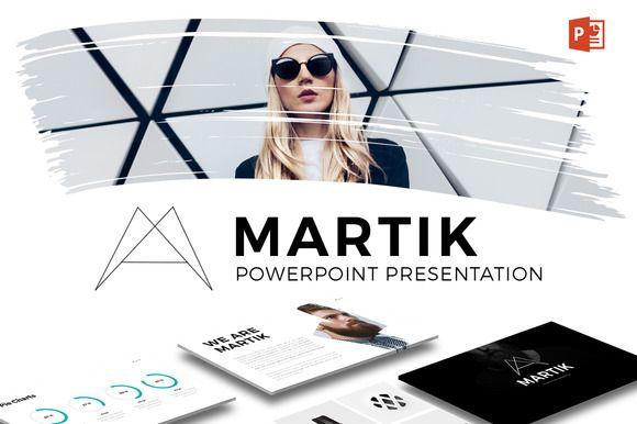 Martik PowerPoint Template by Slidedizer on @creativemarket