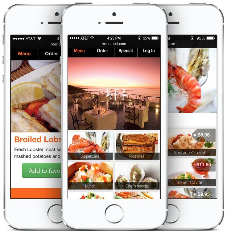 Best ui restaurant apps images on pinterest app