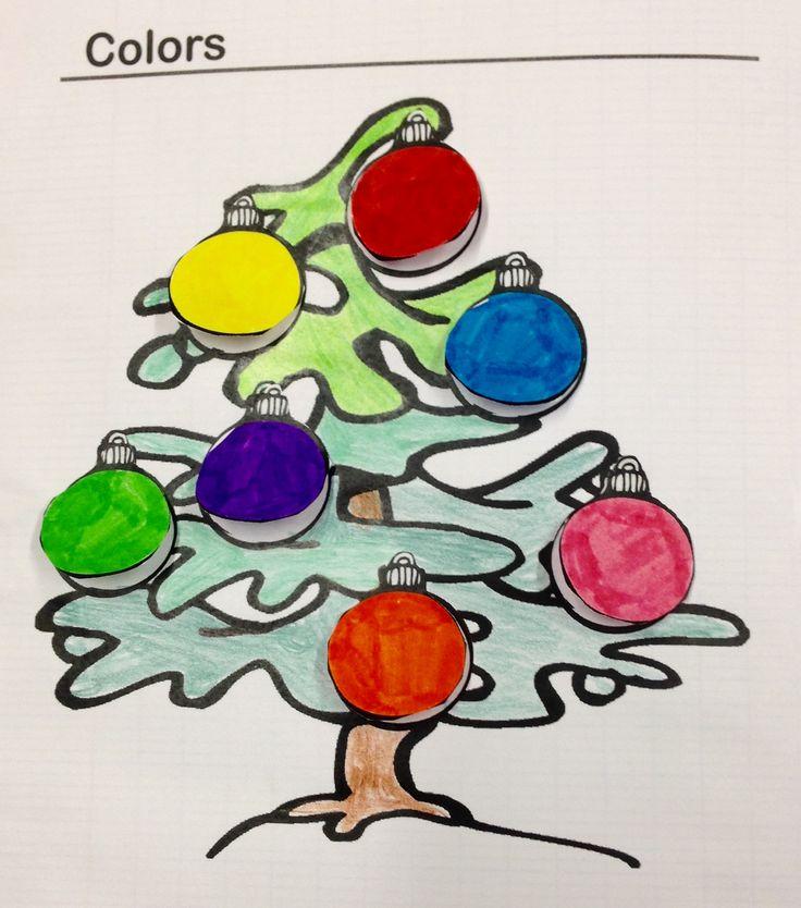 Trace écrite de Noël sur les couleurs - Charivari à l'école