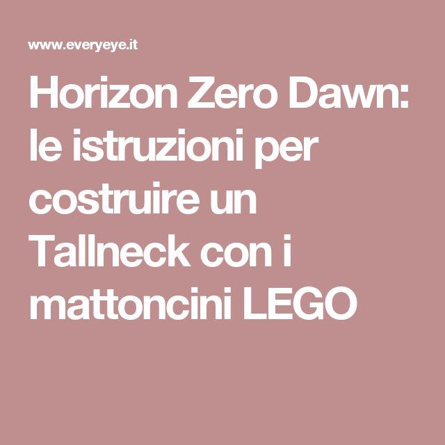 Horizon Zero Dawn: le istruzioni per costruire un Tallneck con i mattoncini LEGO
