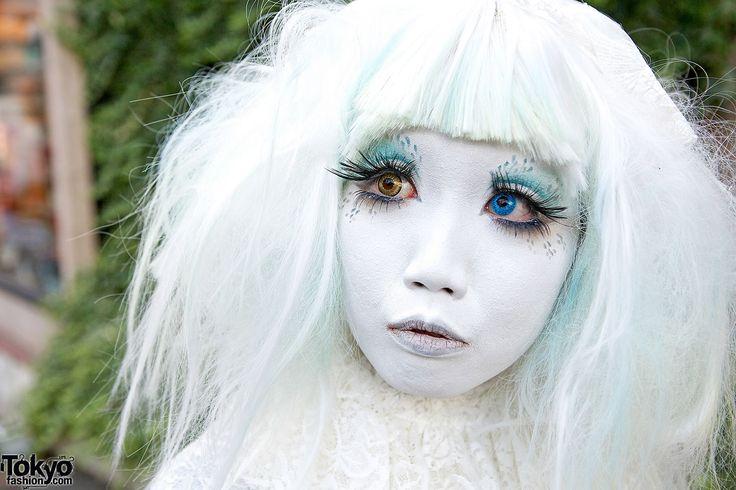 Shironuri Minori in Harajuku Makeup