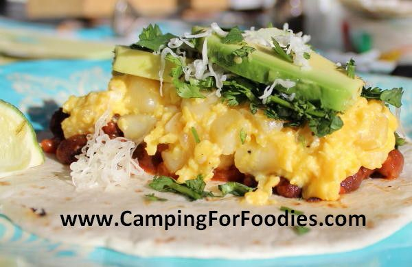 Southwestern Breakfast Burrito camp recipes Camping For Foodies