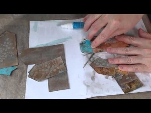 "Mixed Media ""Colored Houses"" Tutorial - YouTube"