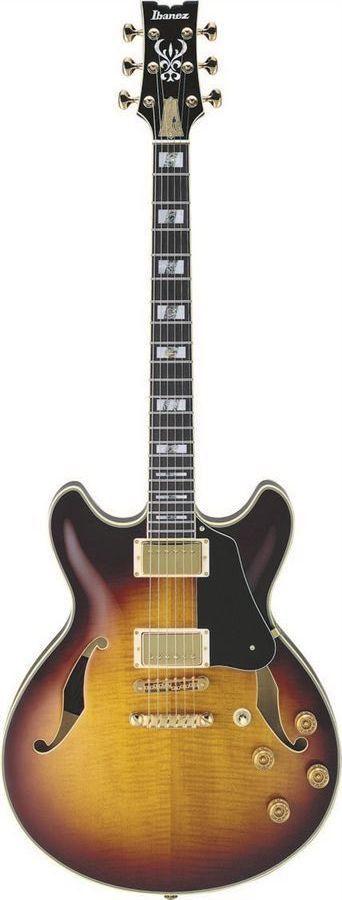 Ibanez JSM100 VT John Scofield Signature Hollow Body Electric Guitar | Vintage Sunburst