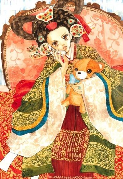 Korean art hanbok in korean manhwa(comics) #hanbok