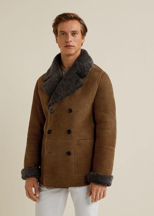 57da1ec8401 Sheepskin-lined suede jacket - Men