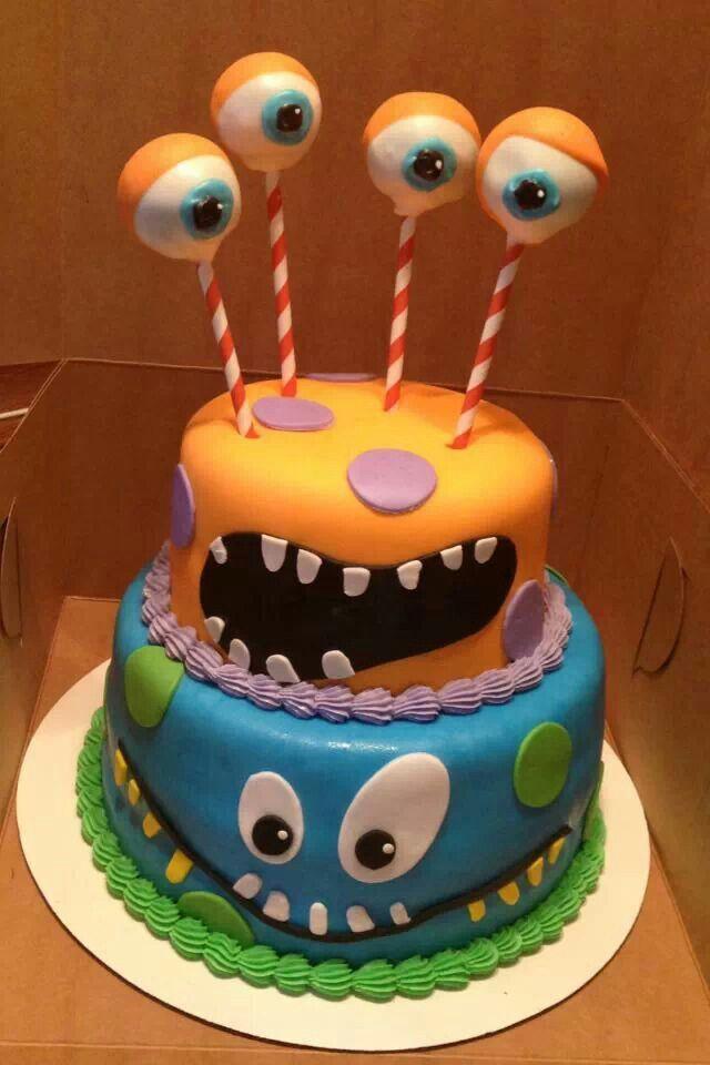 Monster Birthday Cake My Own Stuff Pinterest