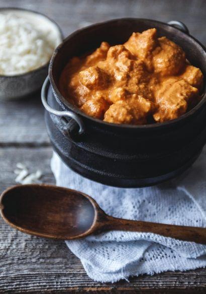 Poulet au beurre. Super bonne recette Indienne et facile à faire. Je le sers avec du riz et du pain naam.