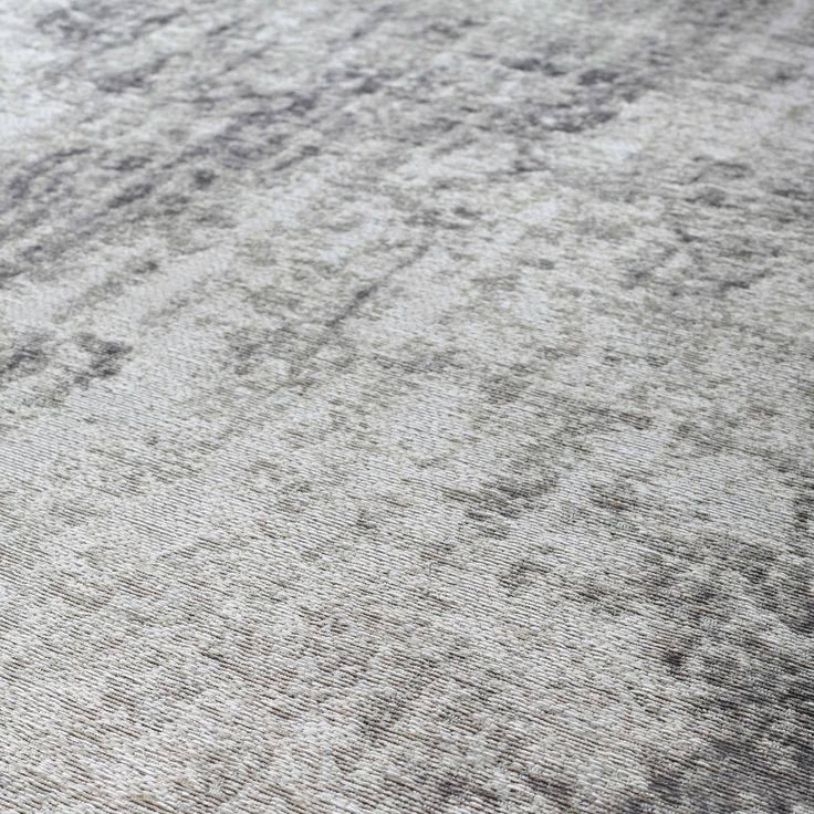 Kurzflorteppich VILLANDRY aus Stoff, 140 x 200cm, ecru/grau