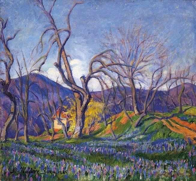 Kádár Géza (1878-1952) - Tavasz Nagybányán, 1925
