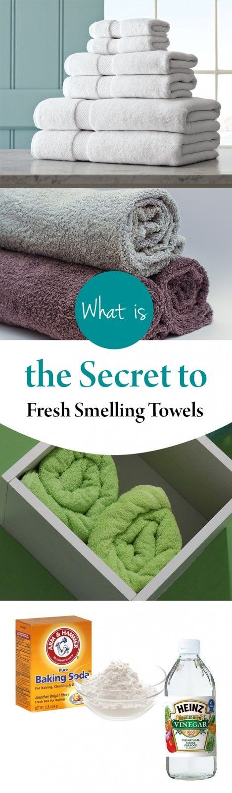 There are lots of reasons as to why your towels could be smelling. It could be because the water is hard, the washer has a mold or mildew problem, or the towels are just old. Whatever the problem, there IS a solution! Here's what to do in order to get your towels from... #cleaning #home #hometips