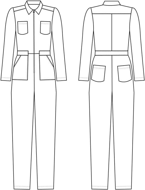 Boiler Suit Sewing Pattern : boiler, sewing, pattern, Intrepid, Boiler, (ENG), Suit,, Sewing, Patterns,, Pattern