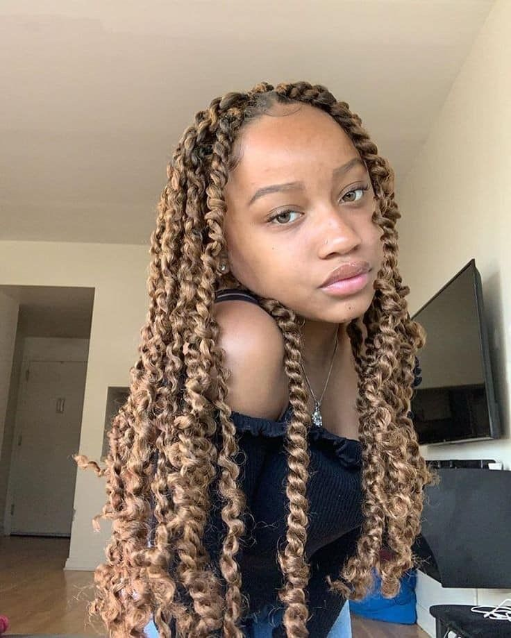 Pin By 3 On Pretty Gangster Cute Box Braids Hairstyles Black Girl Braided Hairstyles Twist Hairstyles
