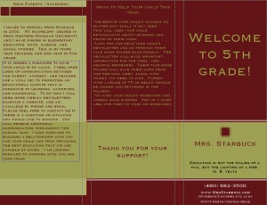 17 best images about back to school orientation on for Meet the teacher brochure template