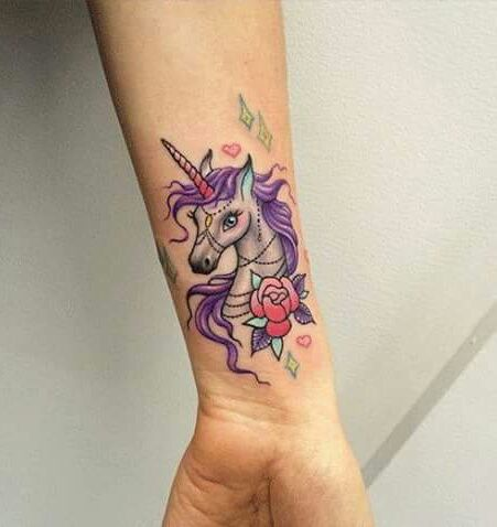 Unicorn tattoo- Can this be any more perfect? Just perfect! #awesome #cute…