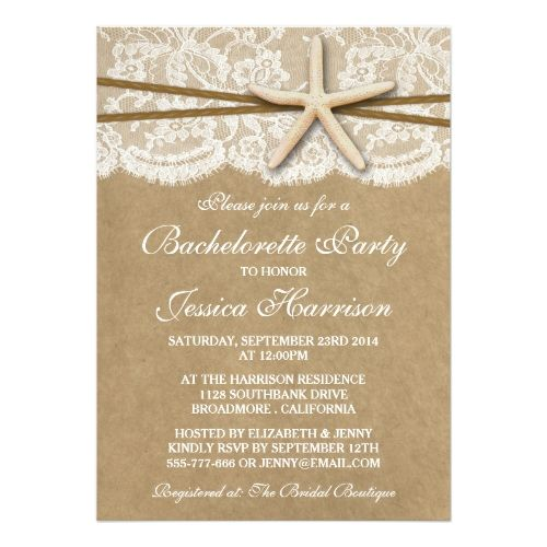 995 best Beach Wedding Invitations images on Pinterest Beach - bachelorette invitation template