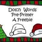 """Sight words are """"islands of certainty"""" that propel a beginning reader forward and provide a way for the reader to monitor his own reading on the way to independent reading. Here are the Dolch Pre-Primer words on Santa Hats that can be colored in as they are mastered."""