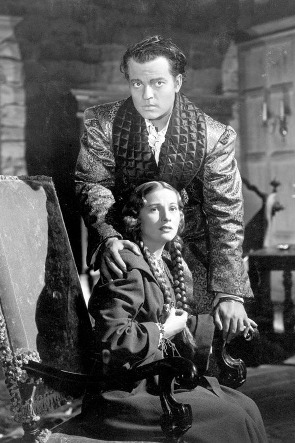 """Joan Fontaine with Orson Welles in """"Jane Eyre"""" (1943)"""