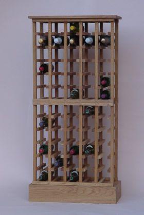 Oak Wine Racks - Individual Bottle Racks
