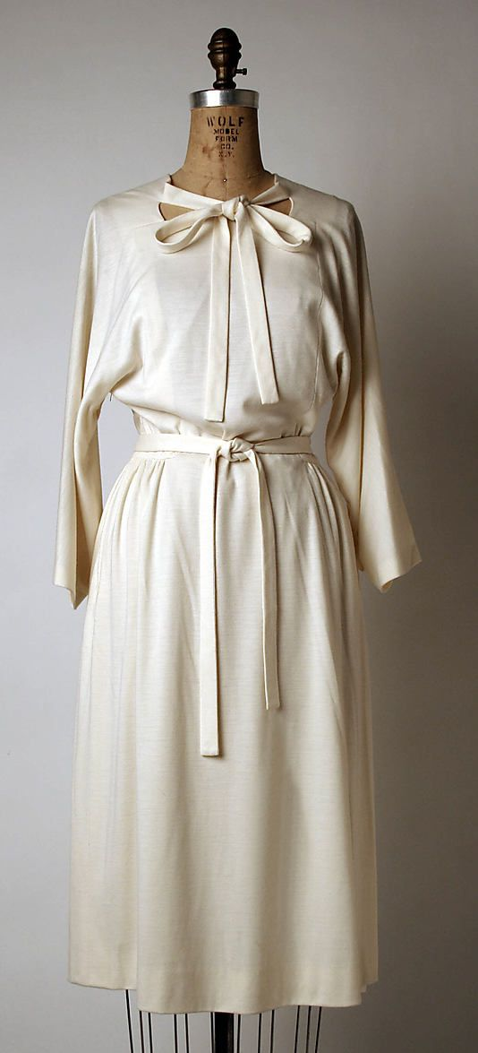 Dress Madame Grès (Alix Barton) (French, Paris 1903–1993 Var region) Date: ca. 1980 Culture: French Medium: cashmere