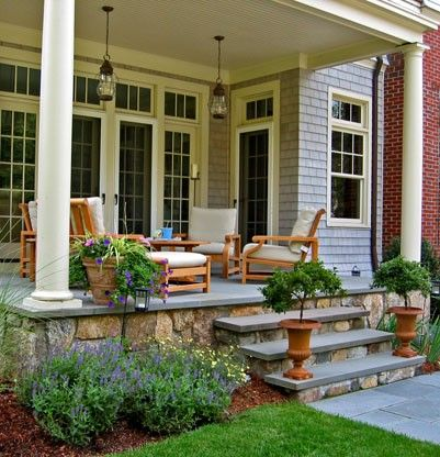 Want To Redo My Front Porch/steps To Look Like This