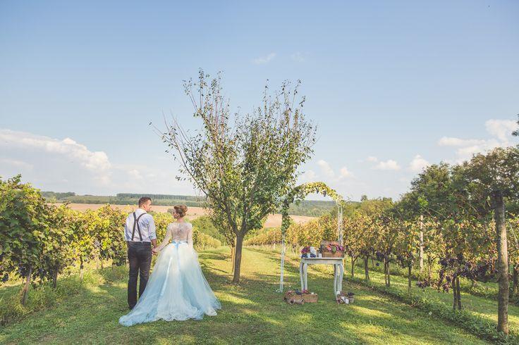 Magical rustic style garden wedding.