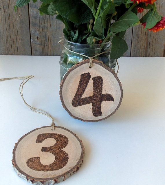 12 Wedding Table Numbers  12 Rustic Table Numbers  12 Branch