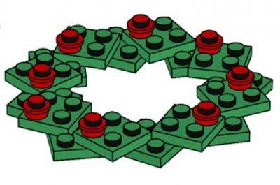 DIY Simple Lego Christmas Ornament Instructions