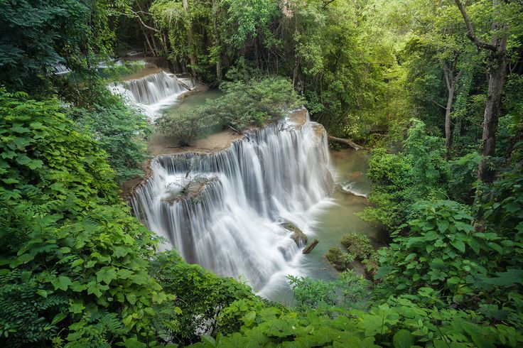 Huay Mae Khamin Waterfall - Wall Mural & Photo Wallpaper - Photowall