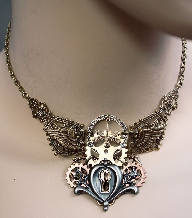 Dis.2013 keyhole gear necklace by ~Pinkabsinthe on deviantART