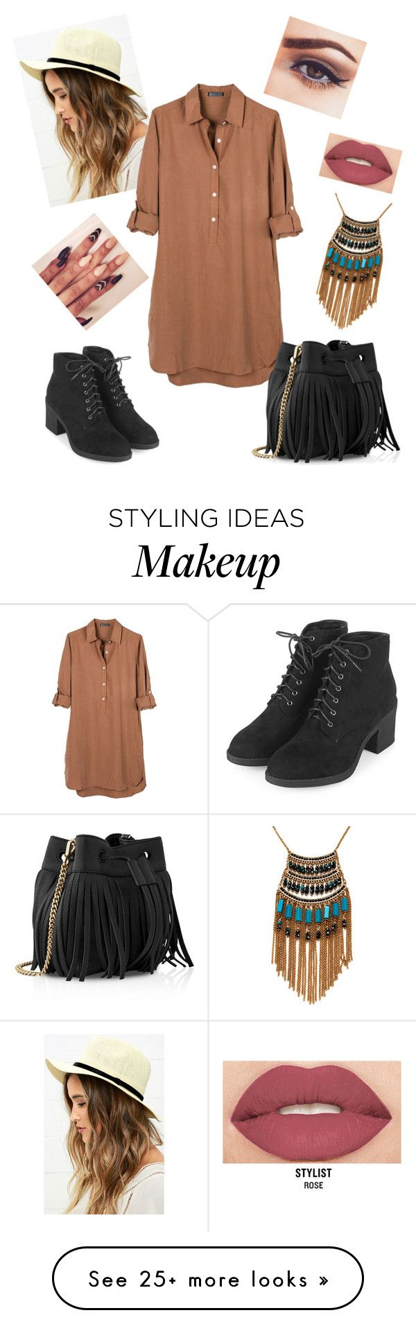 """""""Untitled #99"""" by mildabas on Polyvore featuring Lulu*s, United by Blue, Topshop, Whistles, Smashbox and Leslie Danzis"""
