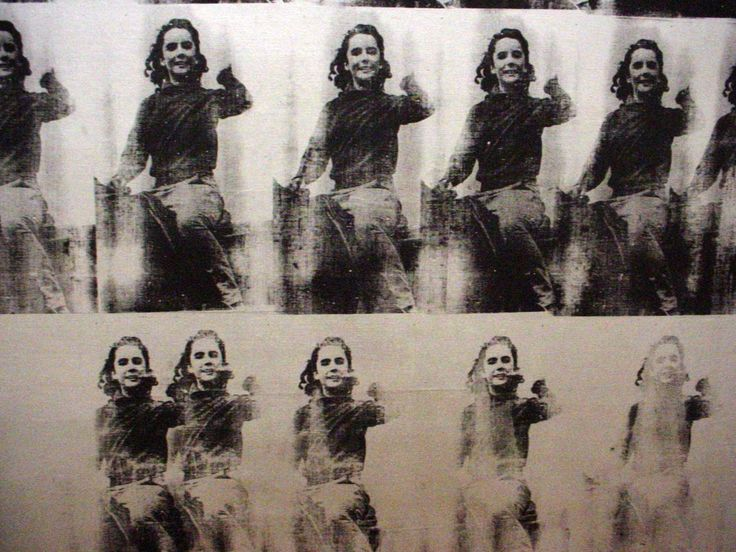 """detail Andy Warhol, """"National Velvet"""" (1963) silkscreen ink,graphite, and silver paint on linen"""