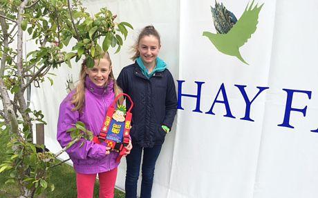 Sky and Kia Ballantyne at the Hay Festival 2015