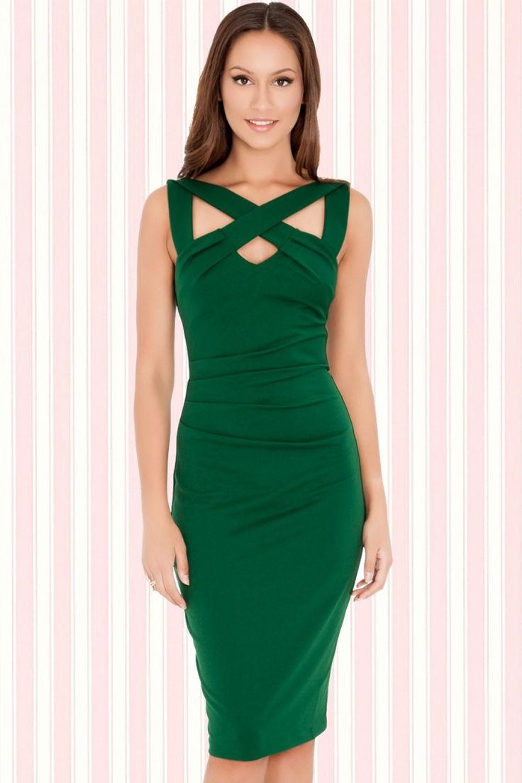 Vintage Chic - 30s Scarlet Cross Dress Emerald
