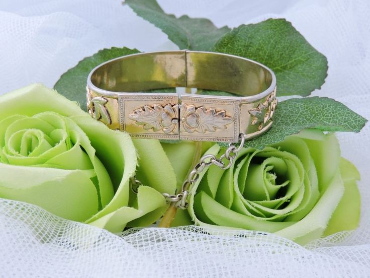 Chinese Gilt Sterling Silver Wedding Bridal Butterfly Cherry Cuff Bracelet